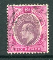 Southern Nigeria 1907-11 KEVII - Wmk. Mult. Crown CA - 6d Dull Purple & Bright Purple Used (SG 39a) - Nigeria (...-1960)