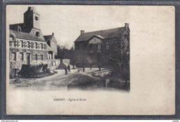 Carte Postale 59. Dimont église Et école  Trés Beau Plan - France