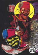 CPM Timbre Monnaie Par Jihel Tirage Limité En 30 Ex Numérotés Signés Banania Colonialisme Négritude - Coins (pictures)