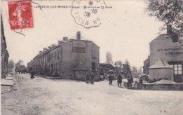"""23-LAVAVEIX-les-MINES (Creuse)- QUARTIER De La GARE- """"Hôtel De La Gare CAUCHAN-Café-Rest. PELUCHON""""-Ecrite 1908- - Other Municipalities"""