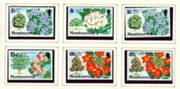 MONTSERRAT - 1980 Flowering Trees Definitive Surcharge Set Unmounted/Never Hinged Mint - Montserrat