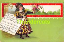 CPA LITHO ENFANT  LITHO CARD CHILDREN  ( BRUNDAGE CLAPSADDLE ) - Dessins D'enfants