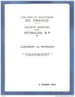 """Facicule  59. Dunkerque  Chantier De France Pétroles BP Lancement Du Pétrolier """"CHAUMONT"""" Construction Navale - Livres, BD, Revues"""