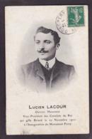 CPA Politique Lucien Lacour Camelots Du Roi Vignette Au Dos Royalisme Royalty Philippe VIII - Political Parties & Elections