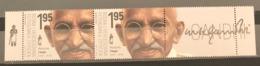 Bosnia And Hercegovina, Republic Of Srpska, 2019, 150 Years Since The Birth Of Mahatma Gandhi, Pair With Label (MNH) - Bosnia Herzegovina