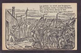 CPA Politique Contre La Guerre Antimilitarisme Non Circulé Jean Baptiste Clément - Evènements