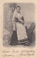 THIESI-SASSARI-COSTUME TIPICO-CARTOLINA VIAGGIATA IL 3-6-1901 - Nuoro