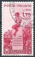 Italia, 1936 Orazio, 1.75+1L Carminio # Sassone 404 - Michel 547 - Scott 359  USATO - Usati