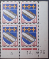 R1949/1404 - 1976 - BLASON De TROYES - BLOC N°1353 TIMBRES NEUFS** CdF Daté - 1970-1979