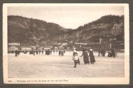 Carte P De 1915 ( Patinage Sur Le Lac De Joux Et Vue Sur Le Pont ) - VD Vaud