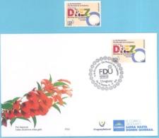 Uruguay 2019 ** SELLO Y SPD Día Mundial De La Diabetes. Medicina. Enfermedades.  O.M.S. - Malattie