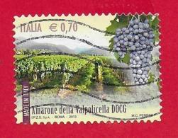 ITALIA REPUBBLICA USATO - 2013 - Made In Italy Vini DOCG - Amarone Della Valpolicella -  € 0,70 - S. 3419 - 6. 1946-.. Republic