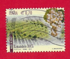 ITALIA REPUBBLICA USATO - 2013 - Made In Italy Vini DOCG - Ramandolo -  € 0,70 - S. 3427 - 6. 1946-.. Republic