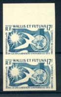 Wallis Et Futuna N°160 - Paire Non Dentelé, Bord De Feuille - (F086B) - Non Dentelés, épreuves & Variétés