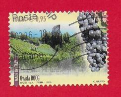ITALIA REPUBBLICA USATO - 2015 - Made In Italy Vini DOCG - Ovada -  € 0,95 - S. 3628 - 6. 1946-.. Republic