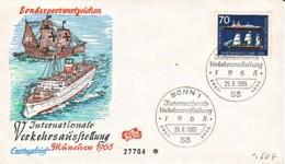 ALLEMAGNE : 1965 - FDC - Expo Transports à Munich - Bateaux