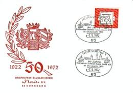 ALLEMAGNE : 1972 - 50 Jahre Briefmarken - Sammler - Verein - Nürnberg - [7] Federal Republic
