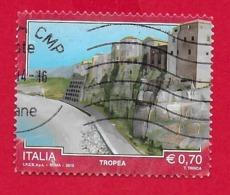 ITALIA REPUBBLICA USATO - 2013 - TURISMO TURISTICA - Tropea - 0,70 € - S. 3443 - 6. 1946-.. Republic