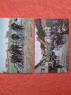 2 Cartes . Einrucken In Die Quartiere Et Peloton D Infanterie Cycliste - Regiments