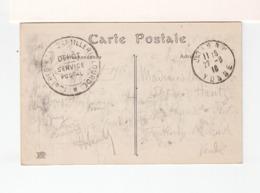 Sur CPA En FM De Joigny Yonne Pour Fontenay Le Comte CAD Joigny 1916.Cachet Régiment Art. Lourde Sevice Postal. (3351) - Bolli Militari A Partire Dal 1940 (fuori Dal Periodo Di Guerra)