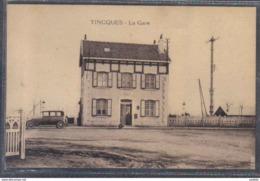 Carte Postale 62. Tincques  La Gare  Trés Beau Plan - France