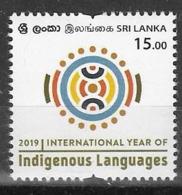 SRI LANKA , 2019, MNH,  LANGUAGES, INTERNATIONAL YEAR OF INDIGENOUS LANGUAGES,1v - Sprachen