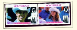 MONTSERRAT - 1986 Royal Wedding Set Unmounted/Never Hinged Mint - Montserrat