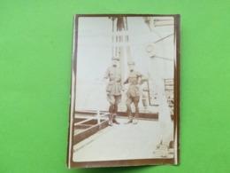 MILITAIRES UNE PERSONNE NOMMÉE À BORD BATEAU ANVERSVILLE COMPAGNIE BELGE MARITIME DU CONGO ANNÉE 1917 4 PHOTOS BELGIQUE - Bateaux