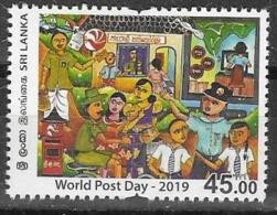 SRI LANKA , 2019, MNH,  WORLD POST DAY, 1v - Post