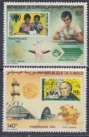"Djibouti P.A. N° 166 / 67 X : ""PHILEXFRANCE 82"" La Paire Trace Charnière Sinon TB - Djibouti (1977-...)"