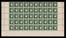 YV 523 N** En Demi Feuille De 50 Timbres Avec Coin Daté Du 22.4.42 - Feuilles Complètes