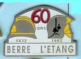 @@ Casque Sapeurs Pompiers Berre L'Etang 60 Ans 32-92 @@pom128b - Brandweerman