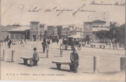 LIVORNO-PORTA A MARE-ANIMATISSIMA-CARTOLINA VIAGGIATA NEL 1905 - Livorno