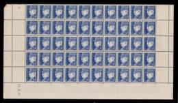 YV 522 N** En Demi Feuille De 50 Timbres Avec Coin Daté Du 31.3.42 - Feuilles Complètes
