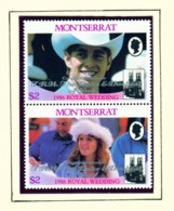 MONTSERRAT - 1986 Royal Wedding Congratulations Set Unmounted/Never Hinged Mint - Montserrat