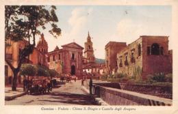 COMISO - VEDUTA - CHIESA S.BIAGIO E CASTELLO DEGLI ARAGONA ~ AN OLD POSTCARD #98725 - Ragusa