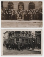 Châlons Sur Marne ,2 Cartes-photos :après Une  Cérémonie Religieuse,pose Devant La Mairie Avec Le Maire Louis Laforest. - Châlons-sur-Marne