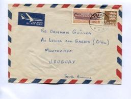 DANMARK COMMERCIAL COVER - CIRCULATED ARHUSC TO MONTEVIDEO, URUGUAY, YEAR 1970, PAR AVION AIR MAIL-LILHU - Danimarca
