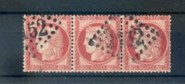 France N°57, Bande De 3, Variété REBUBLIQUE - (F154B) - 1871-1875 Cérès