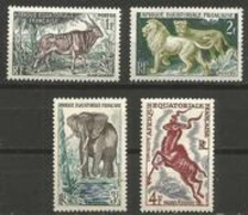 Fr. Equatorial. Africa - 1957 Wild Animals MNH **   Sc 195-8 - A.E.F. (1936-1958)