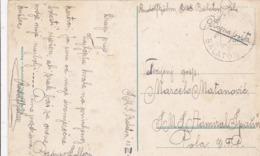 MIL500 -  K.u.K. KRIEGSMARINE  - STEMPEL S.M.S. ,, BALATON ,,  POLA  --  NACH S.M.S. ,, ADMIRAL SPAUN ,, POLA  -  BOJNA - War 1914-18