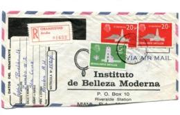 """INSTITUTO DE BELLEZA MODERNA"" COMMERCIAL COVER - CIRCULATED FROM ARUBA, NEDERLANSE ANTILLEN, 1969 AIR MAIL R -LILHU - Antilles"