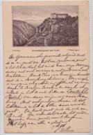 THALE HARZ HEXENTANZPLATZ UND HÔTEL LITHO 1886 DEUTICHEN CPA CARTE POSTALE PIONNIERE PRECURSEUR EARLY POSTCARD - Thale