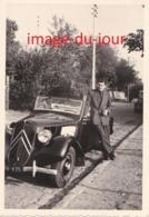 PHOTO ANCIENNE  VOITURE CITROEN TRACTION DÉCAPOTABLE CABRIOLET - Auto's