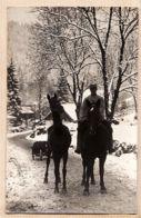 Sat057 Village Probablement Vosgien Chevaux Poilu Route Neige Brouette Carte-Photo GUERRE 1914 Front VOSGES CpaWW1 - France