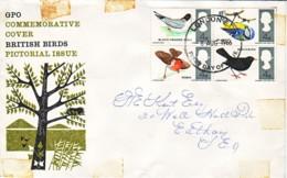 GRANDE BRETAGNE : 1966 - FDC - Oiseaux - Pájaros