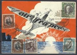 CPA, Poste Aérienne, Carte Air France, Légende Espagnole, Très Bel Affranchissement - 1934 - - 1919-1938