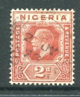 Nigeria 1921-32 KGV - Wmk. Mult. Script CA - 2d Chestnut Used (SG 19) - Nigeria (...-1960)