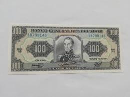 ECUADOR  100 SUCRES 1991 - Ecuador