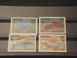 GRENADA - 1984 WWF PESCI 4 VALORI - NUOVI(++) - Grenada (1974-...)